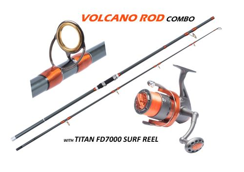 Fishzone Volcano Series 12'/3.6M Rod And Reel Combo